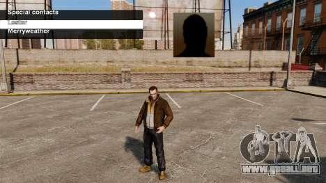 Servicios especiales Merryweather y Lester para GTA 4 tercera pantalla