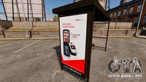 Nuevos carteles de publicidad en las paradas de  para GTA 4