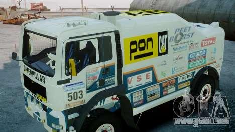 MAN TGA GINAF Dakar Race Truck para GTA 4 visión correcta