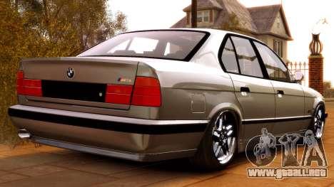 BMW M5 E34 1995 para GTA 4 Vista posterior izquierda