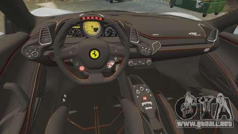 Ferrari 458 Italia 2009 para GTA 4 vista lateral