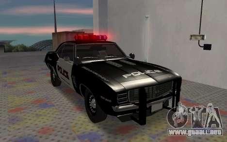 Chevrolet Camaro SS Police para GTA San Andreas left