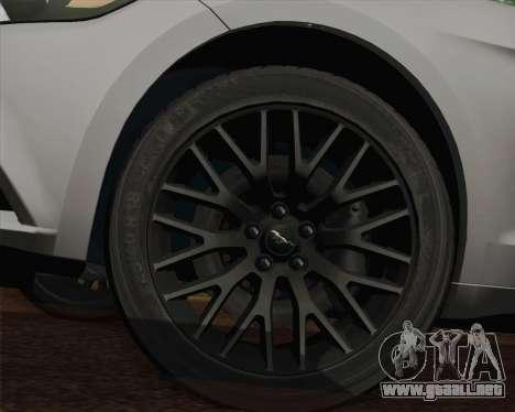 Ford Mustang GT 2015 para vista lateral GTA San Andreas