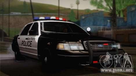 Ford Crown Victoria 2005 Police para GTA San Andreas left