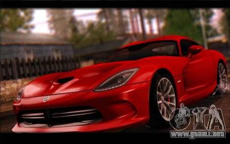 SRT Viper Autovista para GTA San Andreas left