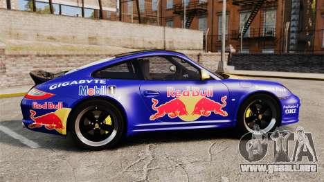 Porsche 911 Sport Classic 2010 Red Bull para GTA 4 left