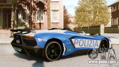 Lamborghini Aventador J Police para GTA 4 visión correcta