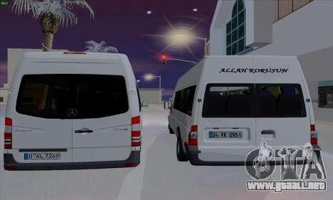 Ford Transit Jumgo para la visión correcta GTA San Andreas