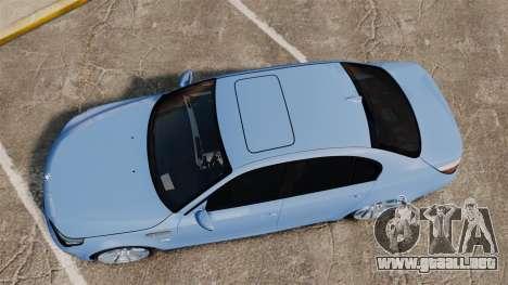 BMW M5 2009 para GTA 4 visión correcta