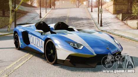 Lamborghini Aventador J Police para GTA 4 Vista posterior izquierda