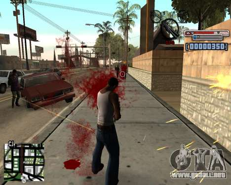 C-HUD by olimpiad para GTA San Andreas segunda pantalla