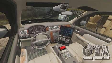 Chevrolet Tahoe 2008 LCPD STL-K Force [ELS] para GTA 4 vista hacia atrás