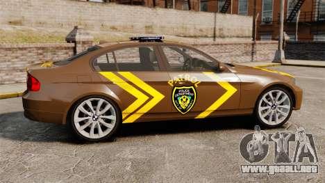 BMW 350i Indonesia Police v2 [ELS] para GTA 4 left