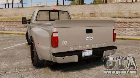Ford F-350 Pitbull v2.0 para GTA 4 Vista posterior izquierda