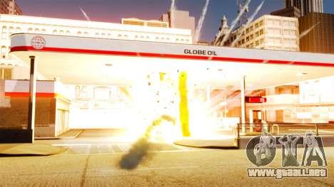 El nuevo escenario de incendios y explosiones para GTA 4 adelante de pantalla
