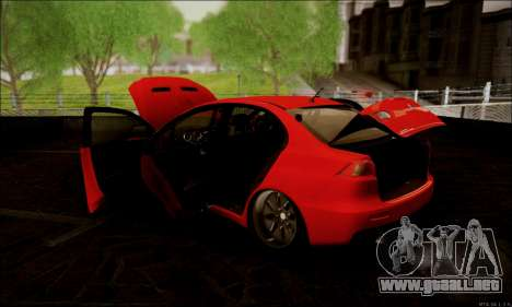 Mitsubishi Lancer Evolution X Stance Work para visión interna GTA San Andreas