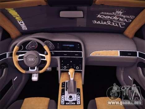 Audi Avant RS6 LowStance para la vista superior GTA San Andreas