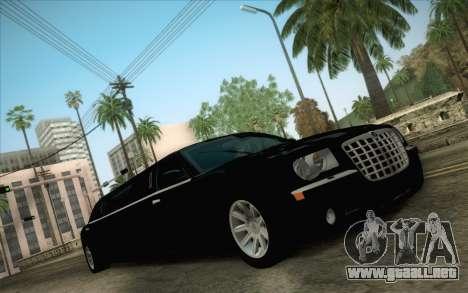 Chrysler 300C Limo 2007 para visión interna GTA San Andreas