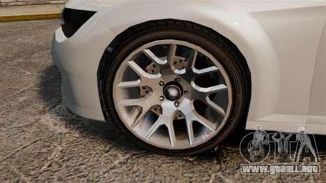GTA V Zion XS Cabrio [Update] para GTA 4 vista hacia atrás