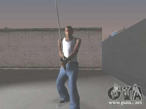 CSO Katana para GTA San Andreas sucesivamente de pantalla