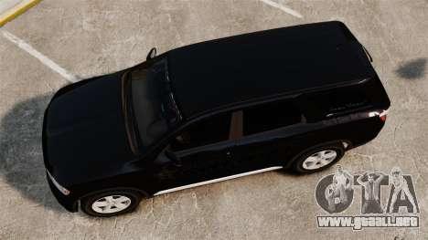 Dodge Durango 2013 Sheriff [ELS] para GTA 4 visión correcta