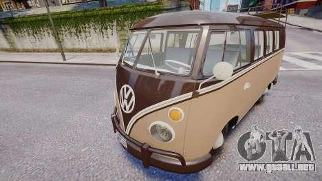 Volkswagen Transporter 1962 para GTA 4 Vista posterior izquierda