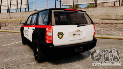 Chevrolet Tahoe 2008 LCPD STL-K Force [ELS] para GTA 4 Vista posterior izquierda