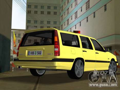 Volvo 850 R Estate para GTA Vice City left