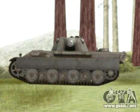 Pzkpfw V Panther II para GTA San Andreas vista posterior izquierda