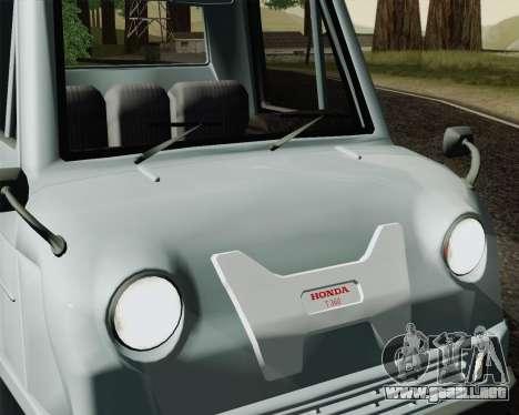 Honda T 360 para GTA San Andreas vista posterior izquierda