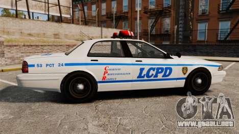 GTA V Police Vapid Cruiser LCPD para GTA 4 left