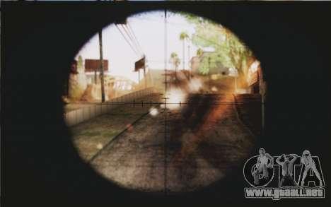 Barrett M82 para GTA San Andreas tercera pantalla