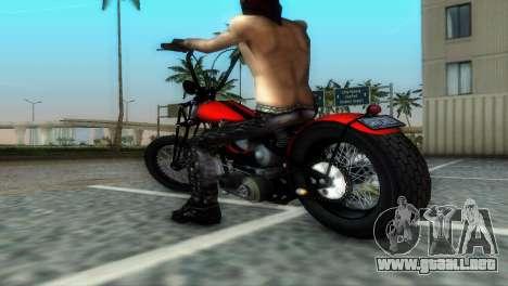 Harley Davidson Shovelhead para GTA Vice City vista posterior