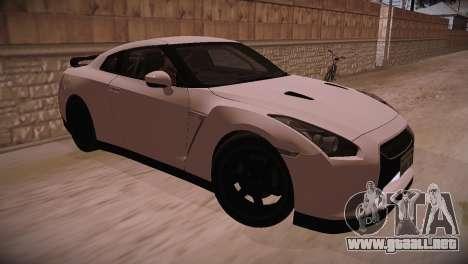 Nissan GT-R SpecV Ultimate Edition para GTA San Andreas vista posterior izquierda