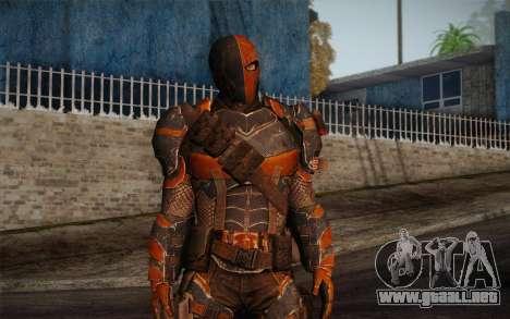 Deathstroke from Batman: Arkham Origins para GTA San Andreas segunda pantalla
