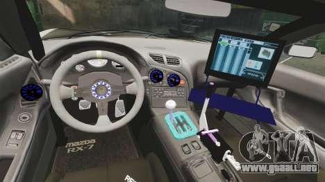 Mazda RX-7 para GTA 4 vista lateral
