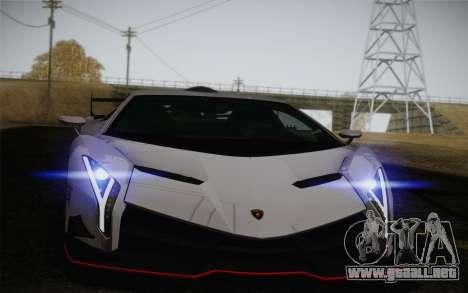 Lamborghini Veneno LP750-4 2013 para vista inferior GTA San Andreas