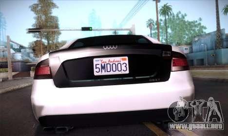 GTA V Tailgater para GTA San Andreas interior