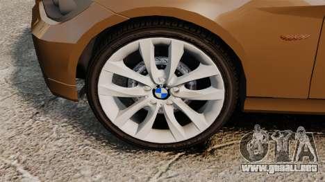 BMW 350i Indonesia Police v2 [ELS] para GTA 4 vista hacia atrás