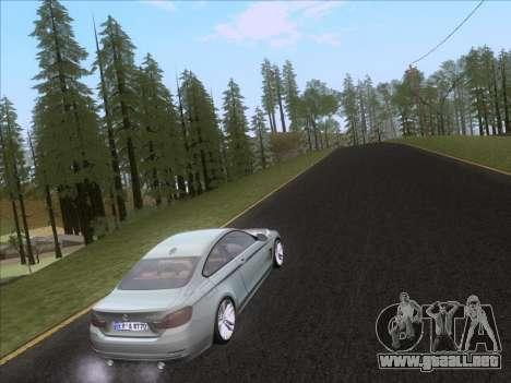 BMW F32 4 series Coupe 2014 para vista inferior GTA San Andreas
