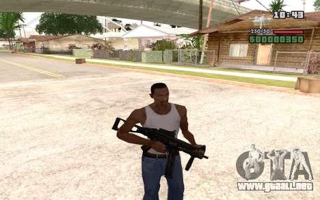 UMP 45 para GTA San Andreas quinta pantalla