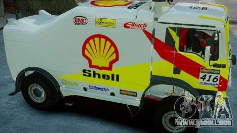 MAN TGA Dakar Truck Shell para GTA 4 visión correcta
