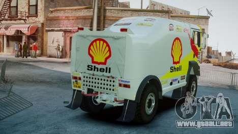 MAN TGA Dakar Truck Shell para GTA 4 Vista posterior izquierda