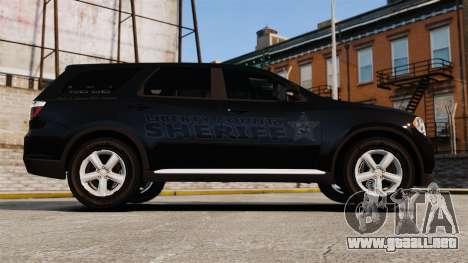 Dodge Durango 2013 Sheriff [ELS] para GTA 4 left