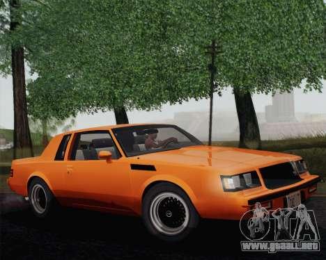 Buick GNX 1987 para GTA San Andreas left