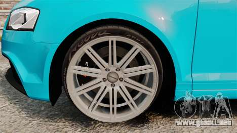 Audi RS3 Sportback [Typ 8PA] 2011 para GTA 4 vista hacia atrás
