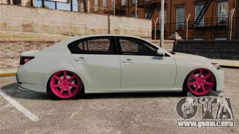 Lexus GS 350 2013 para GTA 4 left