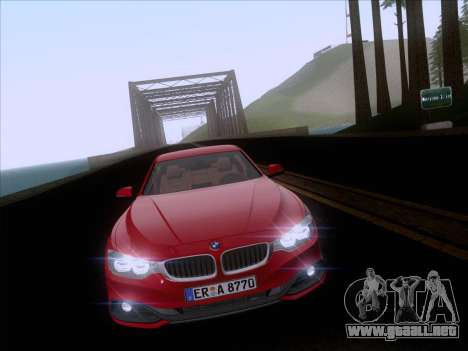 BMW F32 4 series Coupe 2014 para visión interna GTA San Andreas