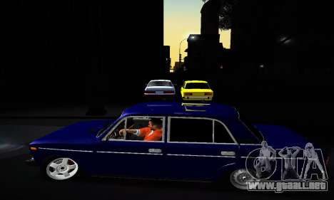 VAZ 2106 para vista inferior GTA San Andreas