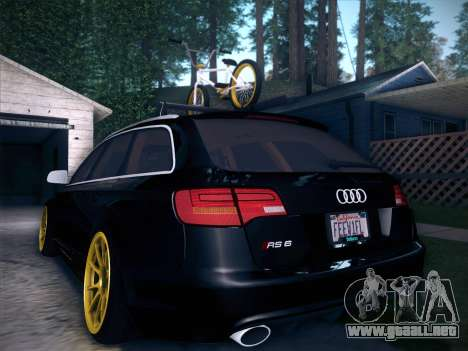 Audi Avant RS6 LowStance para GTA San Andreas interior